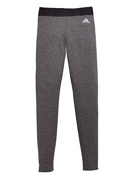 adidas-girls-linear-tight-dark-grey-heathernbsp