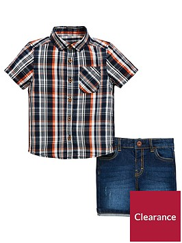 mini-v-by-very-boys-check-shirt-and-denim-short-set-multi