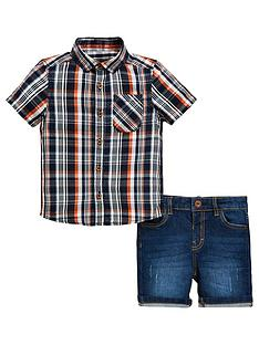 mini-v-by-very-boys-check-shirt-and-denim-short-set