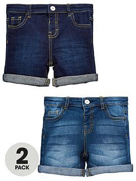 mini-v-by-very-boys-2-pack-new-washes-denim-shorts
