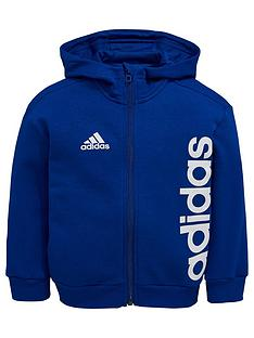 adidas-younger-boys-linear-hoodie