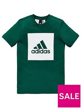 adidas-boys-logo-tee-greennbsp