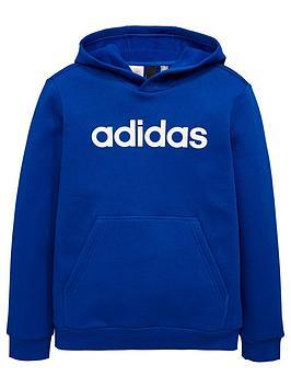 adidas-boys-linear-hoodienbsp--royal-bluenbsp