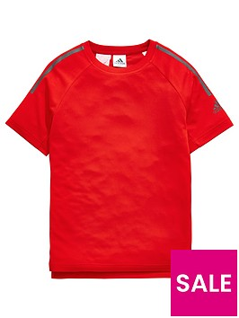 adidas-boys-cool-tee-red