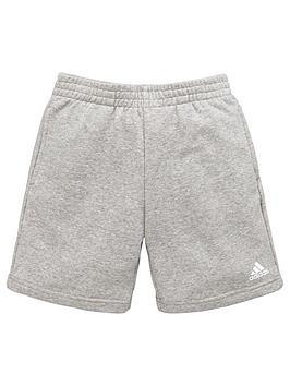 adidas-boys-logo-short-medium-grey-heathernbsp