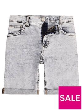 river-island-boys-blue-dylan-knitted-look-denim-shorts