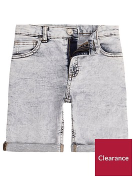 river-island-boys-blue-dylan-knitted-look-denim-shorts