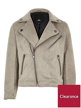 river-island-boys-light-grey-faux-suede-biker-jacket