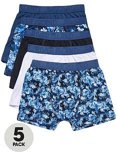 river-island-boys-blue-floral-trunks-multipack