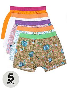 river-island-boys-orange-lime-print-trunks-multipack