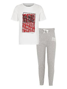 river-island-whitered-front-print-do-not-disturb-set-grey-jog