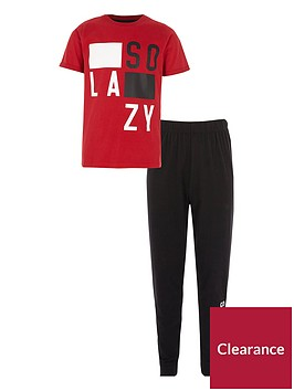 river-island-boys-red-lsquoso-lazyrsquo-pyjama-set