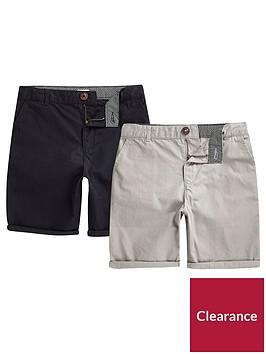 river-island-boys-navy-and-grey-chino-shorts-multipack