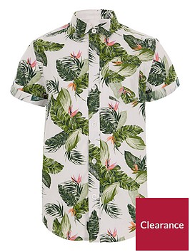 river-island-boys-ecru-leaf-print-shirt