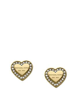 michael-kors-michael-kors-gold-tone-stainless-steel-heart-ladies-stud-earring