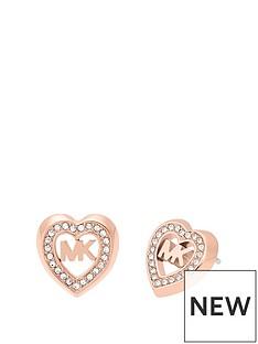 michael-kors-mkj7150791nbsprose-gold-tone-stainless-steel-heart-and-logo-ladies-stud-earrings