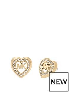 michael-kors-mkj7149710nbspgold-tone-stainless-steel-heart-and-logo-ladies-stud-earrings