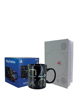 playstation-notebook-and-heat-changing-mug