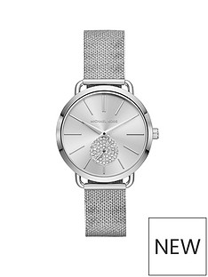 michael-kors-michael-kors-stainless-steel-case-and-mesh-bracelet-tonal-silver-dial-with-pave-detail-ladies-watch