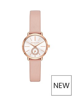 michael-kors-mk2735nbsppetite-portia-rose-gold-tone-case-with-pink-leather-strapnbspladies-watch