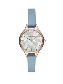 emporio-armani-emporio-armani-mop-dial-and-blue-leather-strap-ladies-watch