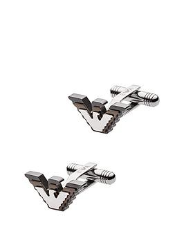 emporio-armani-emporio-armani-gunmetal-and-brown-eagle-logo-mens-cufflinks