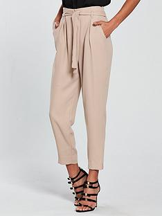 river-island-river-island-tie-waist-tapered-trousers--nude