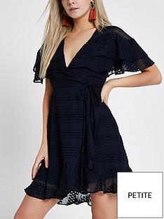 ri-petite-ri-petite-textured-frill-mini-dress--navy