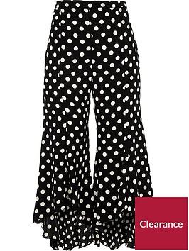 ri-petite-split-leg-frilly-spotted-trousers-blackwhite