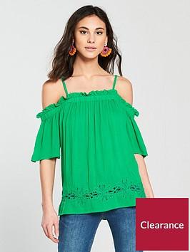 river-island-cold-shoulder-blouse--green