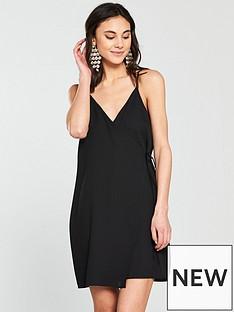 river-island-wrap-cami-dress--black
