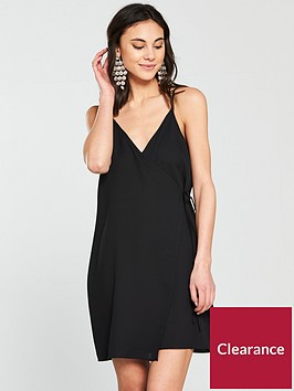 river-island-wrap-cami-dress--black
