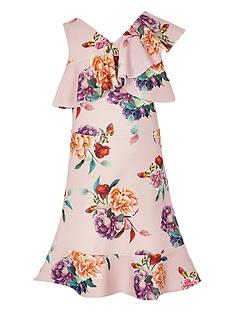 river-island-girls-floral-one-shoulder-frill-dress