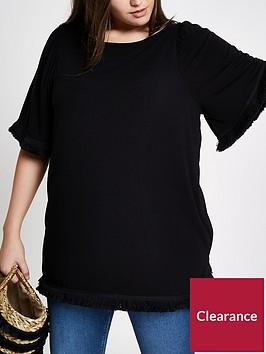 ri-plus-tassel-t-shirt-black