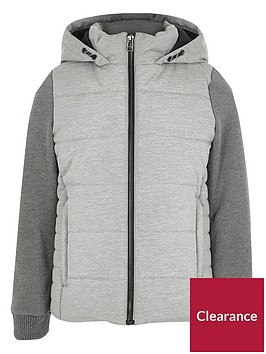 river-island-boys-grey-padded-jersey-sleeve-hooded-jacket
