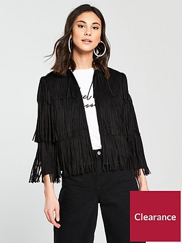 river-island-faux-suede-fringe-jacket-black