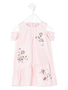 river-island-mini-pink-floral-cold-sholder-bow-dress