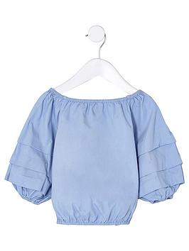 river-island-mini-mini-girls-blue-balloon-sleeve-top