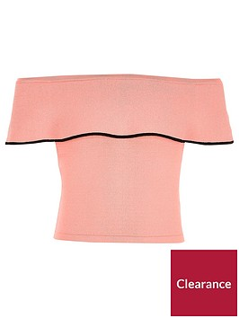 river-island-girls-pink-layer-bardot-knit-crop-top