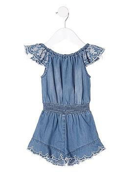 river-island-mini-girls-blue-broderie-frill-denim-playsuit