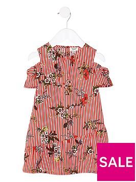 river-island-mini-girls-red-floral-cold-shoulder-dress
