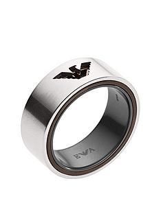 emporio-armani-emporio-armani-gunmetal-and-brown-logo-mens-ring