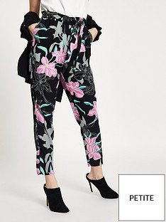 ri-petite-floral-tie-waist-tapered-trousers-black