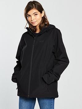 Jack Wolfskin Chilly Morning Waterproof Jacket - Black