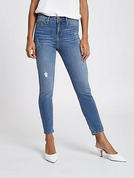 Ri Petite Molly Jeans- Mid Wash
