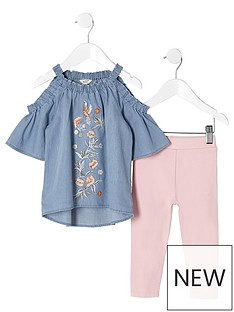 river-island-mini-mini-girls-blue-embroidered-denim-top-outfit