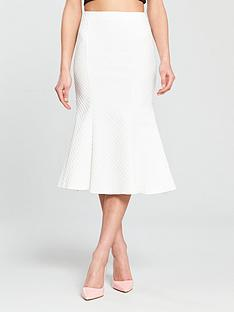 river-island-river-island-jacquard-fluted-skirt--white