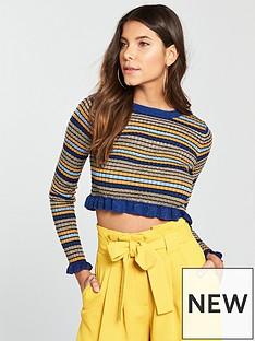 river-island-stripe-jumper--navy