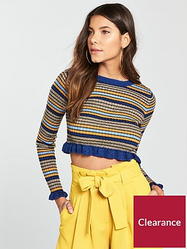 river-island-stripe-jumper--navy