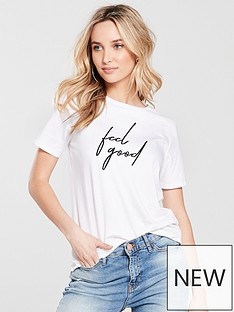 river-island-river-island-feel-good-fitted-t-shirt--white